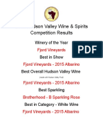 2016 Hudson Valley Wine & Spirits Competition Results