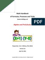 AlgebraHandbook propedeutico
