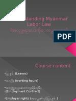 understanding myanmar labor law