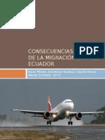 Consecuencias Sociales de La Migración Para El Ecuador