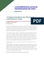 A Língua Portuguesa que Falamos é Culturalmente Negra