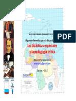 Didacticas Especiales y La Pedagogia Critica