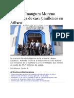 12.09.16 Inaugura Moreno Valle Obra de Casi 5 Millones en Atlixco