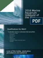 2016 marine aquarist of the year