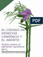 El Codigo de Derecho Canonico y El Aborto_0