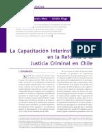 Reforma a La Justicia Criminal en Chile
