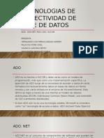 TECNOLOGIAS DE CONECTIVIDAD DE BASE DE DATOS