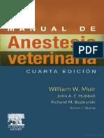 Manual de Anestesia Veterinaria
