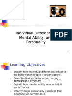 CHAPTER 2-Individual Differences Mental Ability and Personality