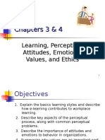 CHAPTER 3 4-Learning Perception Attitudes Emotions Values and Ethics