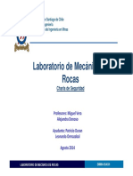 Charla de Seguridad Lab Mecanica de Rocas