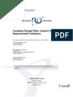 Canadian Ranger Rifle Human Factors