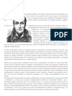 Nicolas Appert y Louis Pasteur