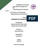 Demanda Del Trasporte