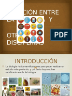 Relación Entre La Biología y OTRAS DISACIPLINAS