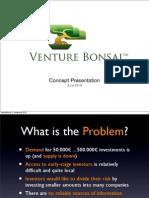 Venture Bonsai Esittelykalvot