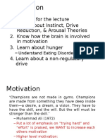 Motivation Lecture Notes