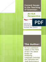 Current Issues in the Teaching of Grammar