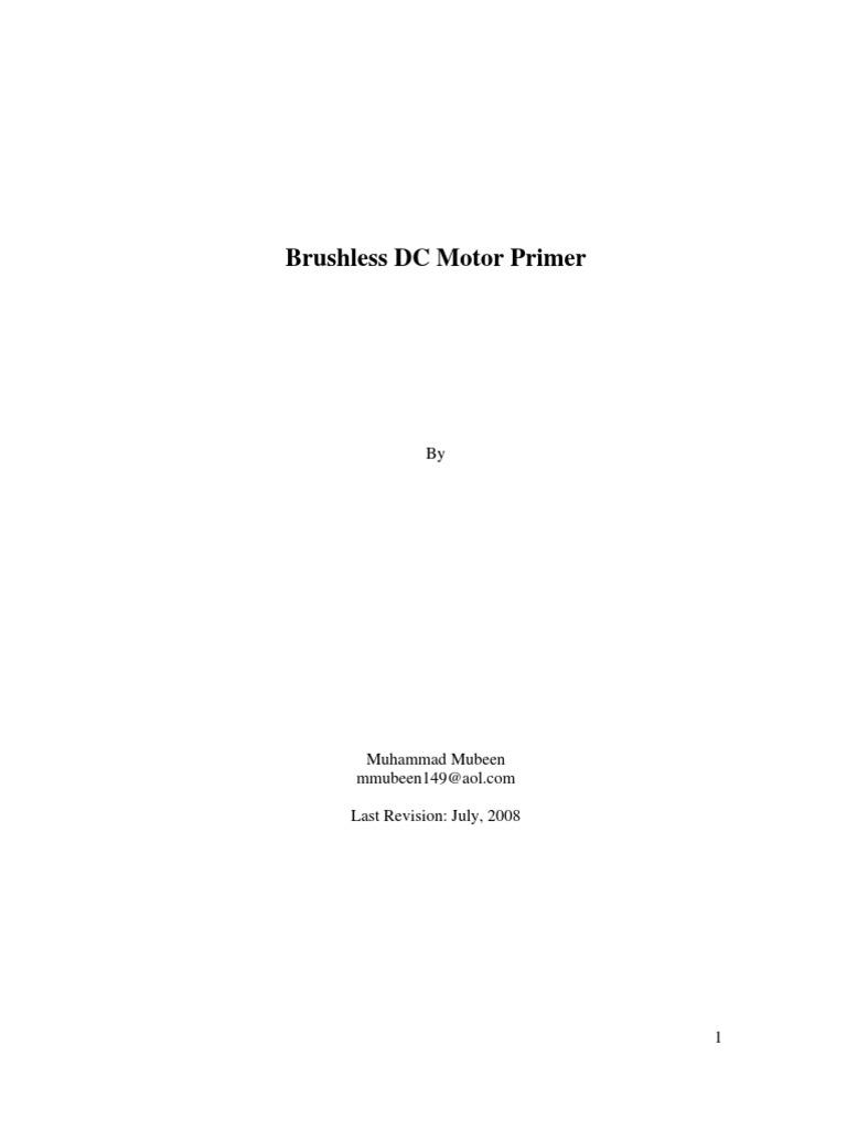 Brushless Dc Motor Primer Electric Power Physics 12 Pole Winding Diagram Wiring