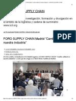 "Foro Supply Chain Madrid ""Cambio Cultural en Nuestra Industria"" – Logistics & Supply Chain"