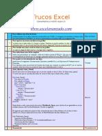 Trucos en Excel