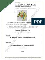 TESIS EN SERVIICIO Y SATISFACCION DEL CLIENTE