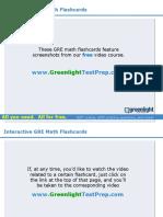 GRE Math Flashcards - GreenlightTestPrep