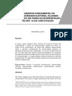 3 a Garantia Fundamental Da Anterioridade Eleitoral