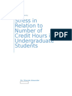 Alexander Miranda, Stress and Amt of Credit Hours
