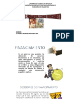 Decisiones Fundamentales Sobre Financiamiento 1