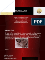 Escabiasis y alopecia areta.