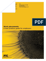 PTC Work Placements Guide 2012 Copy