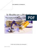 Is Health Care a Market Mariam Koshy 4319737