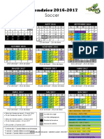 Calendrier Scolaire - Primaire - 2016-2017 - Soccer