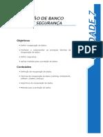 Unidade 7 – Recuperação de Banco de Dados e Segurança