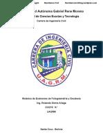 Modelos de Exámenes CIV215 Fotogrametría y Geodesia - UAGRM