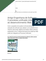 Artigo Engenharia de Software - O Processo Unificado Integrado Ao Desenvolvimento Web