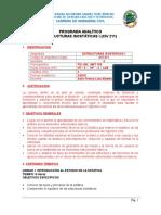 Programa Analitico Estructura Isostatica I