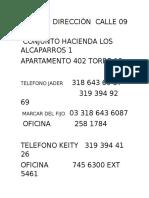 Madrid Direcciòn Calle 09