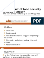 Can Pursuit of Food Security Worsen Hunger