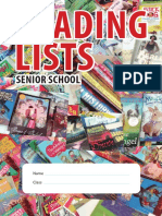 Senior School Reading Lists