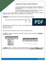 Atividade - Resolução de Equações Do 2º Grau No Cabri-Géomètre II