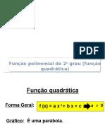 Aula 02 - Função Quadrática Ou Polinomial Do 2º Grau