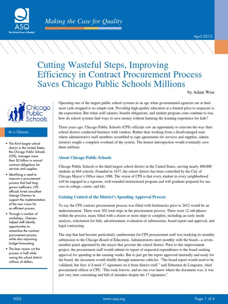 Chicago Public Schools Procurement Process | Procurement
