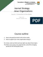 Internet Strategy for News Organizations 1