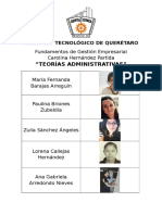 Teorías Administrativas (CUADRO COMPARATIVO)
