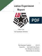Fluidization Lab Report