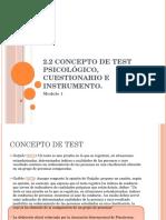 2. Test, Cuestionario e Instrumento