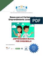 Bases Del Certamen de Emprendimiento 2016 Chiquimula