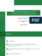 The hydrophobic aggregation of colloidal solutions- A thermodynamic model